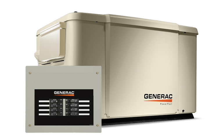 Generac PowerPact 75kW Backup Generator with 8 circuit Transfer